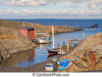 Fishing harbour. - Fishing harbour in Stockholm archipelago...
