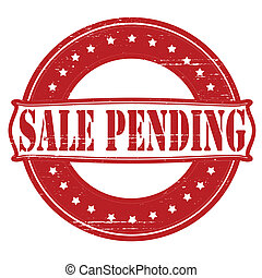 Sale pending - Stamp with text sale panding inside, vector...