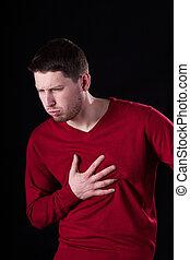 sofrimento, tuberculose, homem