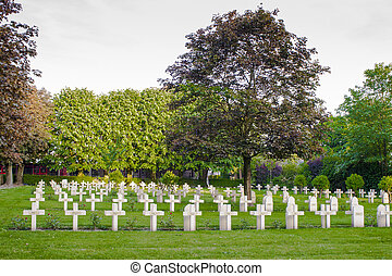 French cemetery from the First World War in Flanders belgium.