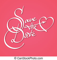 Save the date calligraphy - Save the date wedding engagement...