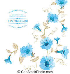 Design of vintage floral card Vector illustration