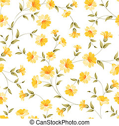 Elegant flowers fabric - Elegant flowers fabric, seampless...