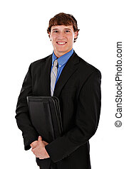 Confident Handsome Young Salesman Standing - Confident...