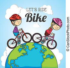 Kids design over blue background, vector illustration
