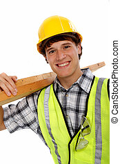 Young Happy Carpenter