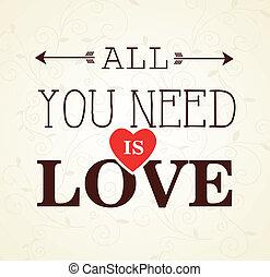 Love design over beige background, vector illustration