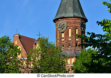 Tower Cathedral of Koenigsberg. Kaliningrad - Tower of the...
