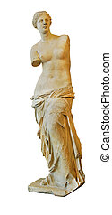 Venus of Milo statue isolated on white