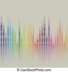 Vector Music Equalizer - Vector Illustration of a Music...