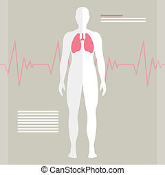 Vector Human Lung - Vector Illustration of the Human Lung