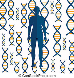 Vector DNA Background - Vector Illustration of an Abstract...