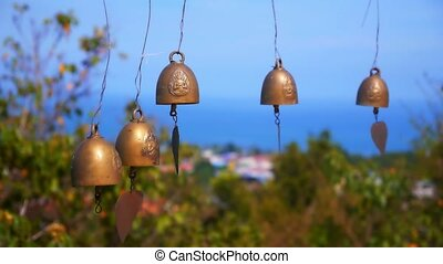 Small Thai Style Bell in Temple - small thai style bell in...