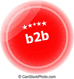 b2b on red rubber stamp over a white background