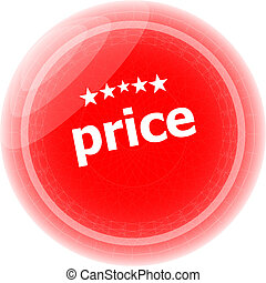 price red rubber stamp over a white background
