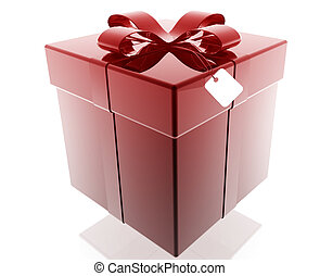 Fancy present - Wrapped fancy present illustration glossy...