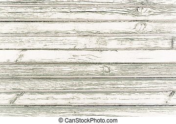 White washed painted wood plank background texture. - White...