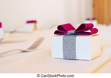 Wedding Party Favors - Party favor presents at a wedding...