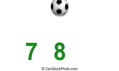 Numbres from hitting soccer ball - Numbers appearing from...