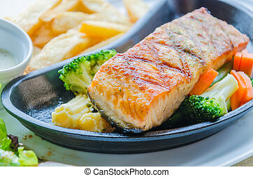 Salmon grilled