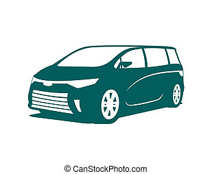 Minivan icon - An illustration of concept of minivan icon