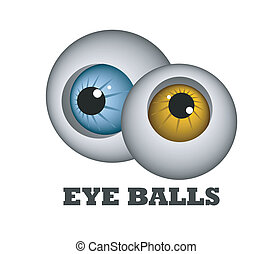 Eye balls - An illustration of two funny eye balls