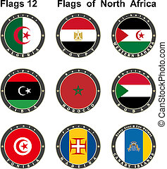 World flags. North Africa.