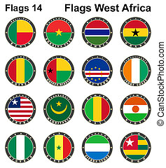 World flags. Western Africa.