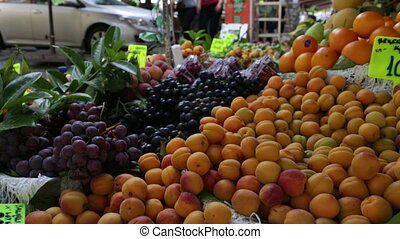 Fresh fruits in green grocer