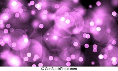 purple light dots & particles,dancing circle,bubble &...