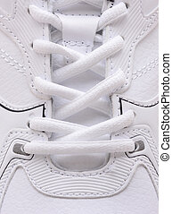 Sneaker Laces Closeup - Closeup of the laces on a brand new...