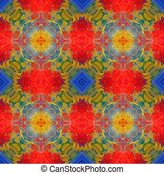 seamless pattern - Seamless pattern made from Scarlet Macaw...