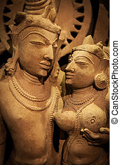 Indian Love - Indian lovers in tantric position, north-west...