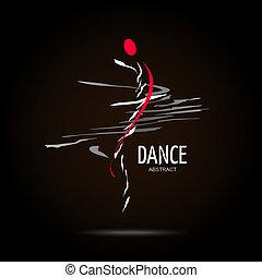 Abstract Vector Logo Design Template. Creative Dance Concept...