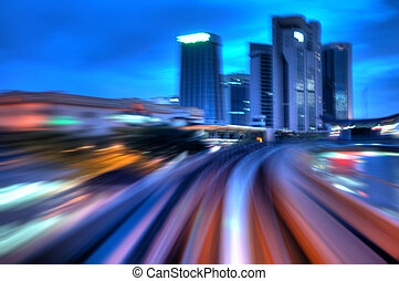 Urban night traffics. - Urban night traffics view in dusk....