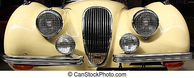 British Oldtimer  - the front of an oldtimer Jaguar XK 120