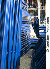 blue metal pipe for construction
