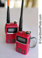 red walky talky equipment for construction business - red...