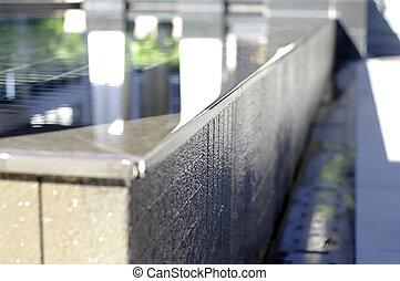 water fountain edge detail