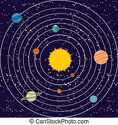 Vecotr solar system illustration