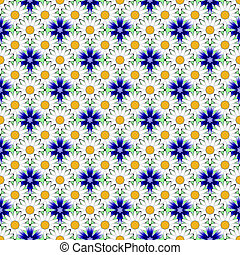 Design seamless colorful flower decorative pattern Abstract...