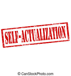 Self-Actualization-stamp - Grunge rubber stamp with text...