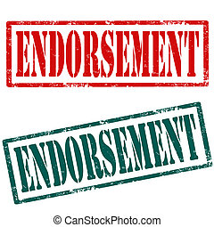 Endorsement-stamps - Set of grunge rubber stamp with text...