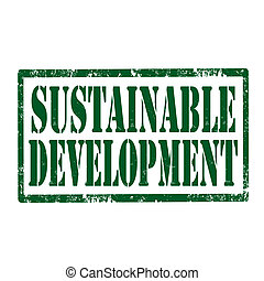 Sustainable Development-stamp - Grunge rubber stamp with...