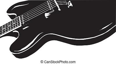 Blues Guitar - A typical semi-solid electrig blues guitar...