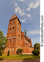 St Stanislaus church 1521 in Swiecie town, Poland - Church...