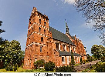 St Stanislaus church 1521 in Swiecie town, Poland - Church...