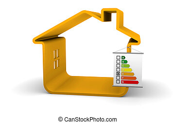 Building Energy Performance E Classification - House with an...