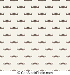 Vector tile mustache pattern - Seamless vector pattern,...