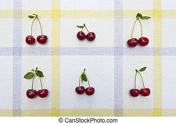 Fresh cherries pattern